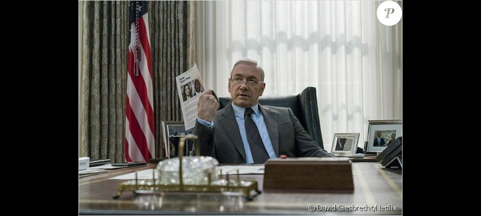 Kevin Spacey dans la saison 5 de House of Cards, 2017.