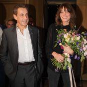 Nicolas Sarkozy complice avec sa petite Giulia, Carla sous le charme