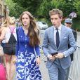 Eddie Redmayne et sa femme Hannah Bagshawe - Les célébrités arrivent à Wimbledon pour assister à la finale du tournoi de tennis qui oppose R. Federer à Cilic à Londres le 16 juillet 2017.