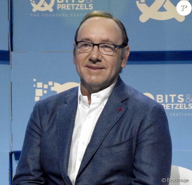 """Kevin Spacey lors du """"Bits & Pretzels Founders Festival"""" au centre de conférence à Munich, Allemagne, le 24 septembre 2017. © Future-Image/Zuma Press/Bestimage"""