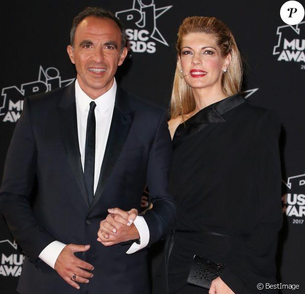 Nikos Aliagas avec sa compagne Tina Grigoriou - 19ème édition des NRJ Music Awards à Cannes le 4 novembre 2017. © Dominique Jacovides/Bestimage
