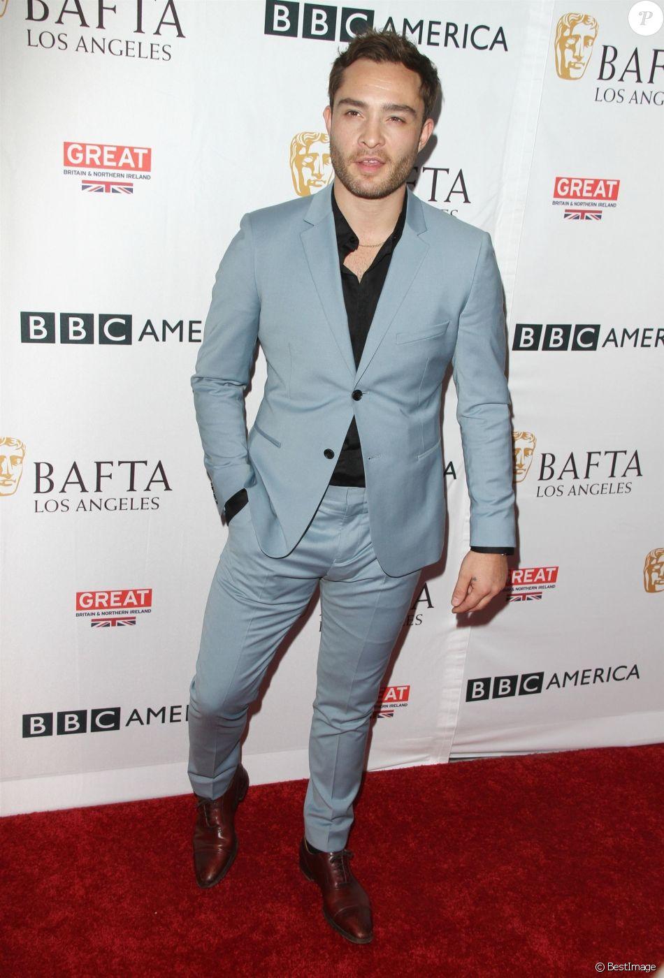 Ed Westwick à la soirée BAFTA TV Tea 2017 à l'hôtel Beverly Hilton à Beverly Hills, le 16 septembre 2017.