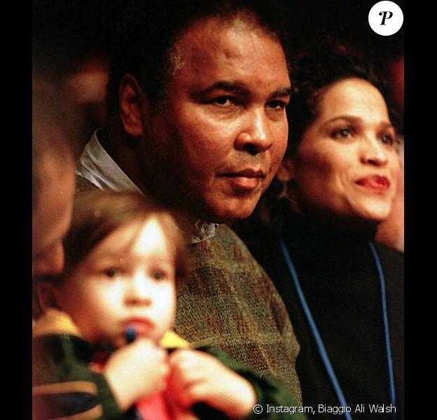 Photo de Biaggio Ali Walsh, Muhammad Ali et Rasheda Ali.