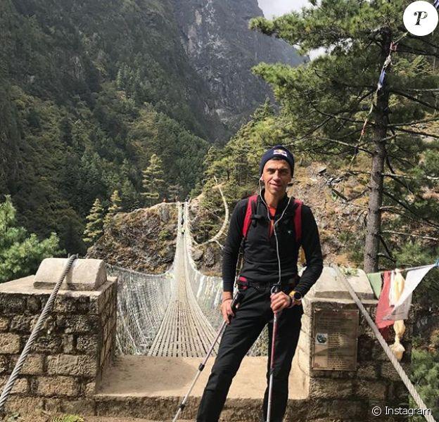 Valery Rozov au Népal fin octobre 2017, photo Instagram. Le Russe, adepte du base jump, a trouvé la mort le 11 novembre 2017 à 52 ans dans l'Himalaya.