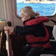 """""""  Le prince Jacques de Monaco à la barre d'un bateau de la Police maritime de Monaco le 10 novembre 2017, photographié par sa mère la princesse Charlene. Photo Instagram.  """""""