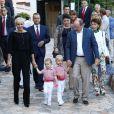 """"""" La princesse Gabriella et le prince Jacques de Monaco avec leurs parents Albert et Charlene lors du pique-nique de rentrée des Monégasques, le 1er septembre 2017 dans le parc Princesse Antoinette. © Olivier Huitel/Pool restreint Monaco/Bestimage """""""
