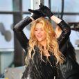 """La chanteuse Shakira a donné un concert sur le plateau de l'émission """"Today"""" à New York. Le 26 mars 2014."""