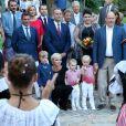La princesse Gabriella et le prince Jacques de Monaco avec leurs parents au traditionnel pique-nique de rentrée des Monégasques au parc Princesse Antoinette à Monaco le 1er septembre 2017. © Olivier Huitel/Pool restreint Monaco/Bestimage