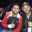 Malik Bentalha et Franck Gastambide - People au championnat du monde de Boxe WBA Lourds-légers Yunier Dorticos / Youri Kalenga à Paris le 20 mai 2016.