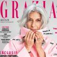 Sophie Fontanel en couverture du magazine Grazia. Photo par Andoni et Arantxa.