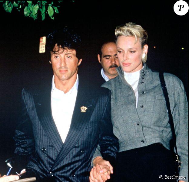 Sylvester Stallone et Brigitte Nielsen en 1987 à Hollywood