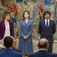 La reine Letizia d'Espagne lors de la remise des Prix Reine Letizia du handicap 2016 et 2017 le 21 novembre 2017 au palais du Pardo à Madrid.