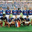 Frank Leboeuf et l'équipe de France en finale de la Coupe du Monde de football. Saint-Denis, juillet 1998.