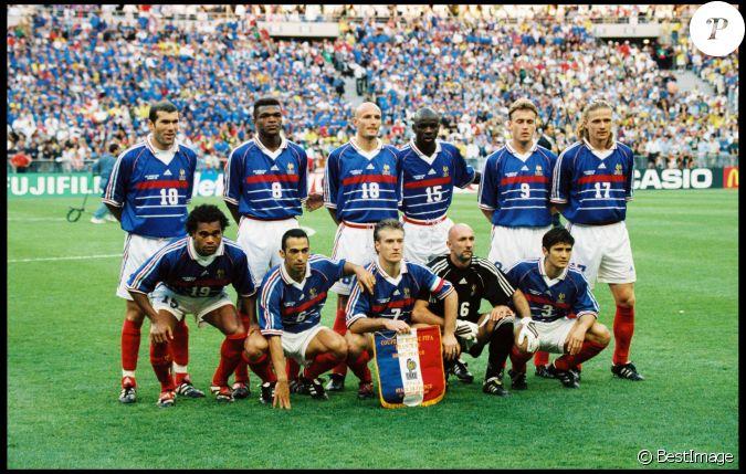 Frank leboeuf et l 39 quipe de france en finale de la coupe - Coupe du monde 1994 equipe de france ...