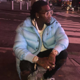 Photo d'Offset en doudoune Balenciaga à New York. Septembre 2017.