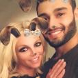 Britney Spears et son petit ami Sam Asghari sur une photo publiée sur Instagram le 1er novembre 2017