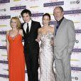 """Miranda Richardson, Rupert Friend, Emily Blunt et Jim Broadbent à l'avant-première de """"The Young Victoria"""", le 3 mars 2009, à l'Odeon de Leicester Square"""
