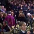 Nicolas Sarkozy arrive à l'église de la Madeleine pour les obsèques de Johnny Hallyday, à Paris le 9 décembre 2017.