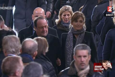 Obsèques de Johnny : Julie Gayet et Hollande soudés, Brigitte Macron très émue