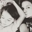 Katie Holmes et sa fille Suri sur une photo publiée sur Instagram le 14 mai 2017