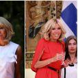 """""""Brigitte Macron accompagne Emmanuel Macron lors d'une visite officielle en Grèce en septembre 2017. © Dominique Jacovides / Bestimage"""""""