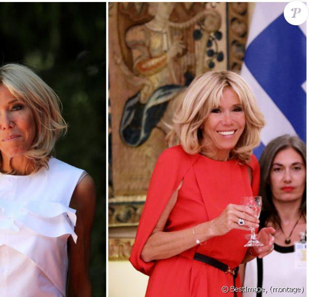 Brigitte Macron accompagne Emmanuel Macron lors d'une visite officielle en Grèce en septembre 2017. © Dominique Jacovides / Bestimage
