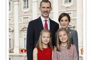 Letizia, Felipe, Leonor et Sofia d'Espagne : Coup de froid sur la carte de voeux