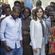 La reine Letizia d'Espagne en visite à l'Université Cheikh Anta Diop à Dakar lors de son voyage officiel au Sénégal le 12 décembre 2017
