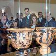 Le roi Felipe VI d'Espagne à Jaen le 11 décembre 2017 pour l'inauguration du Musée Ibérique.