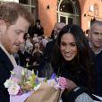 Meghan Markle, un mois après l'annonce de ses fiançailles avec le prince Harry (qu'elle accompagnait le 1er décembre 2017 en mission à Nottingham - notre photo), est conviée à la réunion de la famille royale britannique autour de la reine Elizabeth II à Sandringham pour célébrer Noël.
