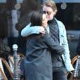 Exclusif - Macaulay Culkin et sa compagne Brenda Song et Seth Green et sa femme Clare Grant se promènent dans les rues de Paris, le 24 novembre 2017.