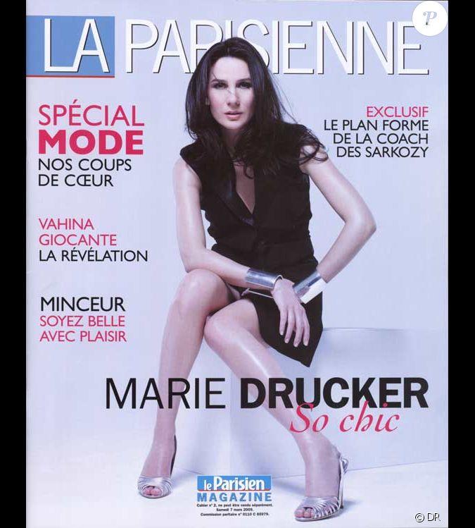 marie drucker en couverture de la parisienne. Black Bedroom Furniture Sets. Home Design Ideas