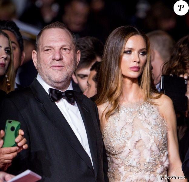 """Harvey Weinstein et sa femme Georgina Chapman - Montée des marches du film """"Hands of Stone"""" lors du 69e Festival International du Film de Cannes. Le 16 mai 2016. © Dominique Jacovides- Cyril Moreau/Bestimage"""