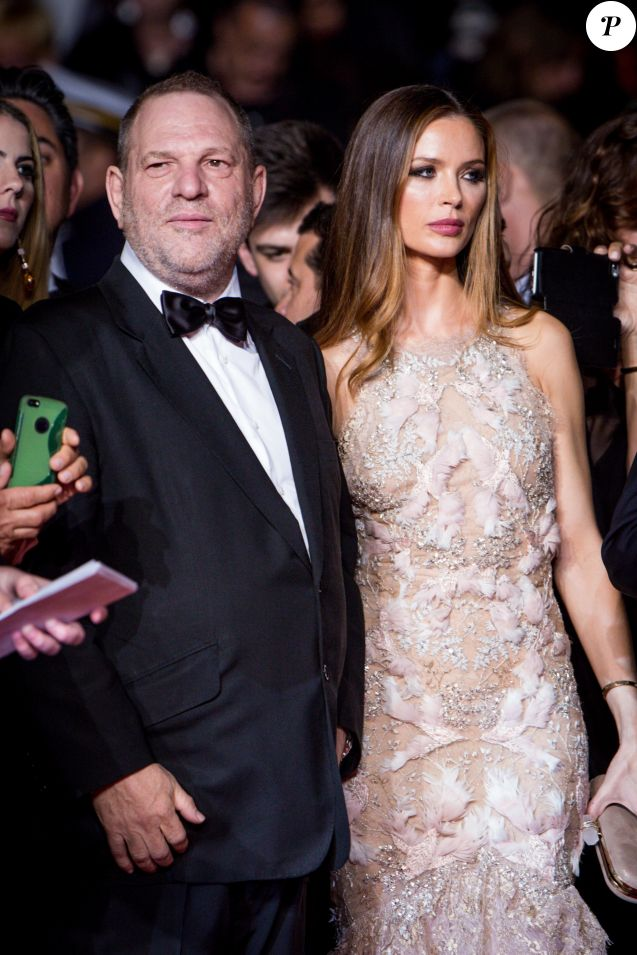 "Harvey Weinstein et sa femme Georgina Chapman - Montée des marches du film ""Hands of Stone"" lors du 69e Festival International du Film de Cannes. Le 16 mai 2016. © Dominique Jacovides- Cyril Moreau/Bestimage"
