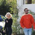 Scott Disick et sa compagne Sofia Richie sont allés déjeuner au restaurant Lovis à Calabasas, le 17 décembre 2017