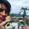 Alessandra Sublet de retour sur l'île de Saint-Barthélemy, un mois après le passage de l'ouragan Irma. Instagram, octobre 2017.