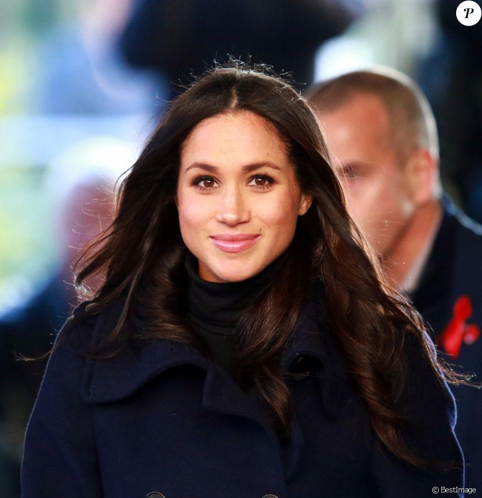 Meghan Markle à Nottingham le 1er décembre 2017, en visite à des associations avec son fiancé le prince Harry.