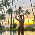Leila Ben Khalifa se dévoile ultra sexy lors de ses vacances en Thaïlande, en fin d'année 2017.