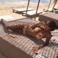 Leila Ben Khalifa plus sexy que jamais lors de ses vacances. Eté 2017.