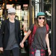 Ellen Page et sa compagne Emma Portner sortent de leur hôtel, The Bowery Hotel, à New York. Le 13 septembre 2017