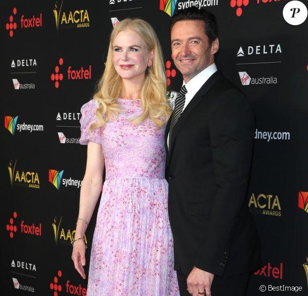 Nicole Kidman et Hugh Jackman - 7e édition des AACTA International Awards à Los Angeles. Le 5 janvier 2018.