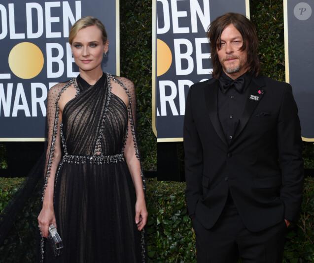 Diane Kruger et Norman Reedus officialisent aux Golden Globes 2018.