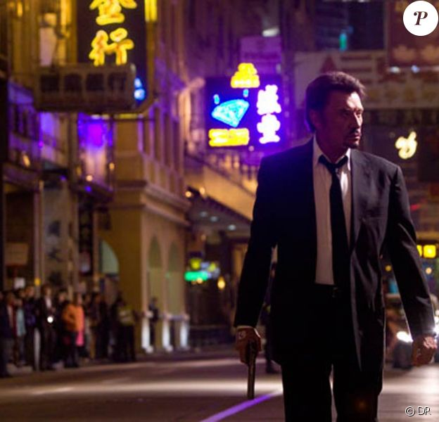 """Johnny Hallyday, dans une scène de """"Vengeance"""", de Johnnie To, que nous pourrons découvrir dès le mois de mai dans nos salles !"""