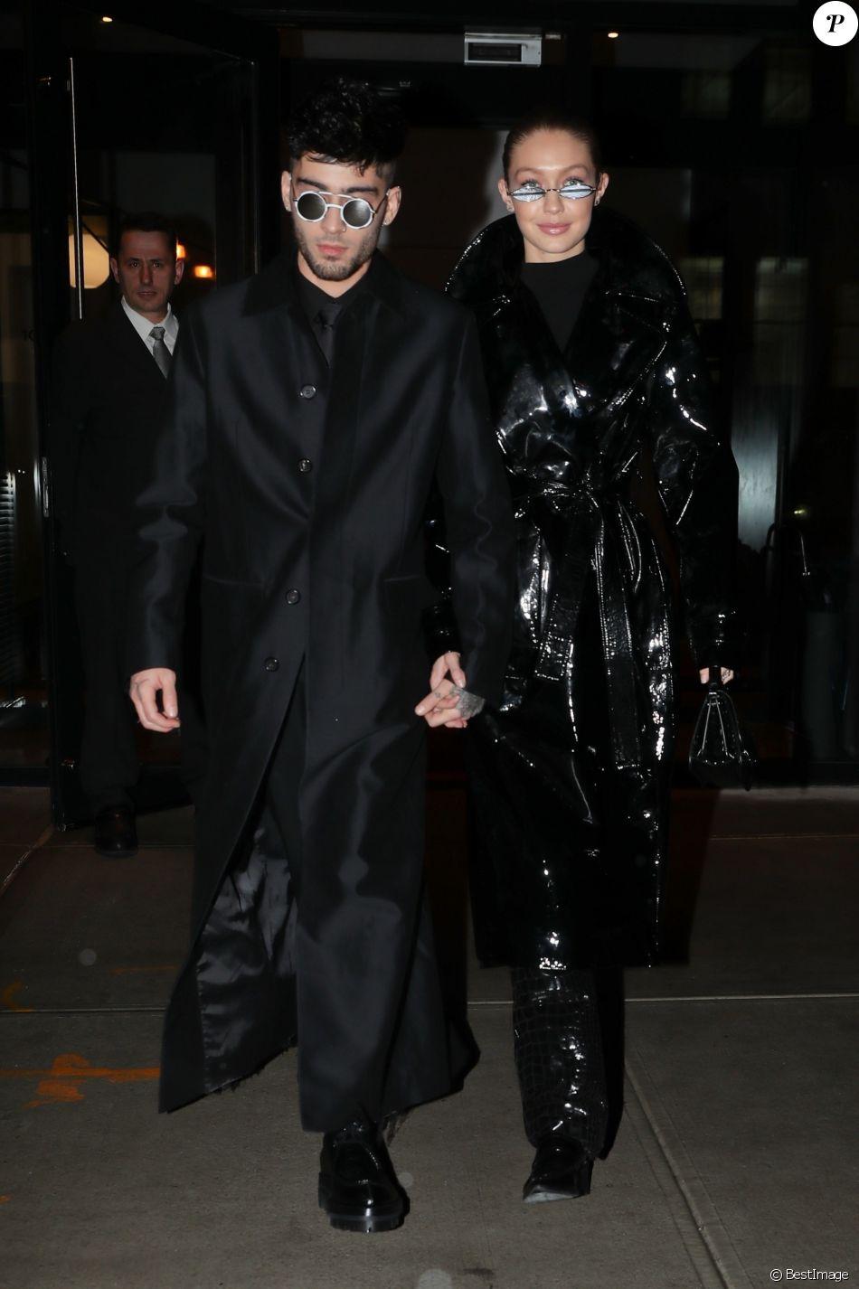 Zayn Malik fête son 25ème anniversaire en compagnie de sa compagne Gigi Hadid à New York le 12 janvier 2018.