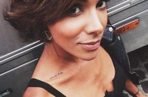 Shy'm : Nouveau tatouage sur la cuisse et jeu de mots