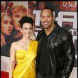 """Carla Gugino et Dwayne Johnson, à l'occasion de l'avant-première de """"La Montagne Ensorcelée"""", qui s'est tenue le 11 mars 2009 à Hollywood !"""
