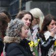 Le public était venu en très grand nombre pour rendre hommage à Dolores O'Riordan (chanteuse de The Cranberries), morte le 15 janvier 2018 à 46 ans, dont la dépouille a été exposée dans son cercueil en l'église Saint Joseph à Limerick, en Irlande, le 21 janvier 2018, à l'avant-veille de ses obsèques et de son inhumation dans sa ville de Ballybricken. © Niall Carson/PA Wire/Abacapress.com