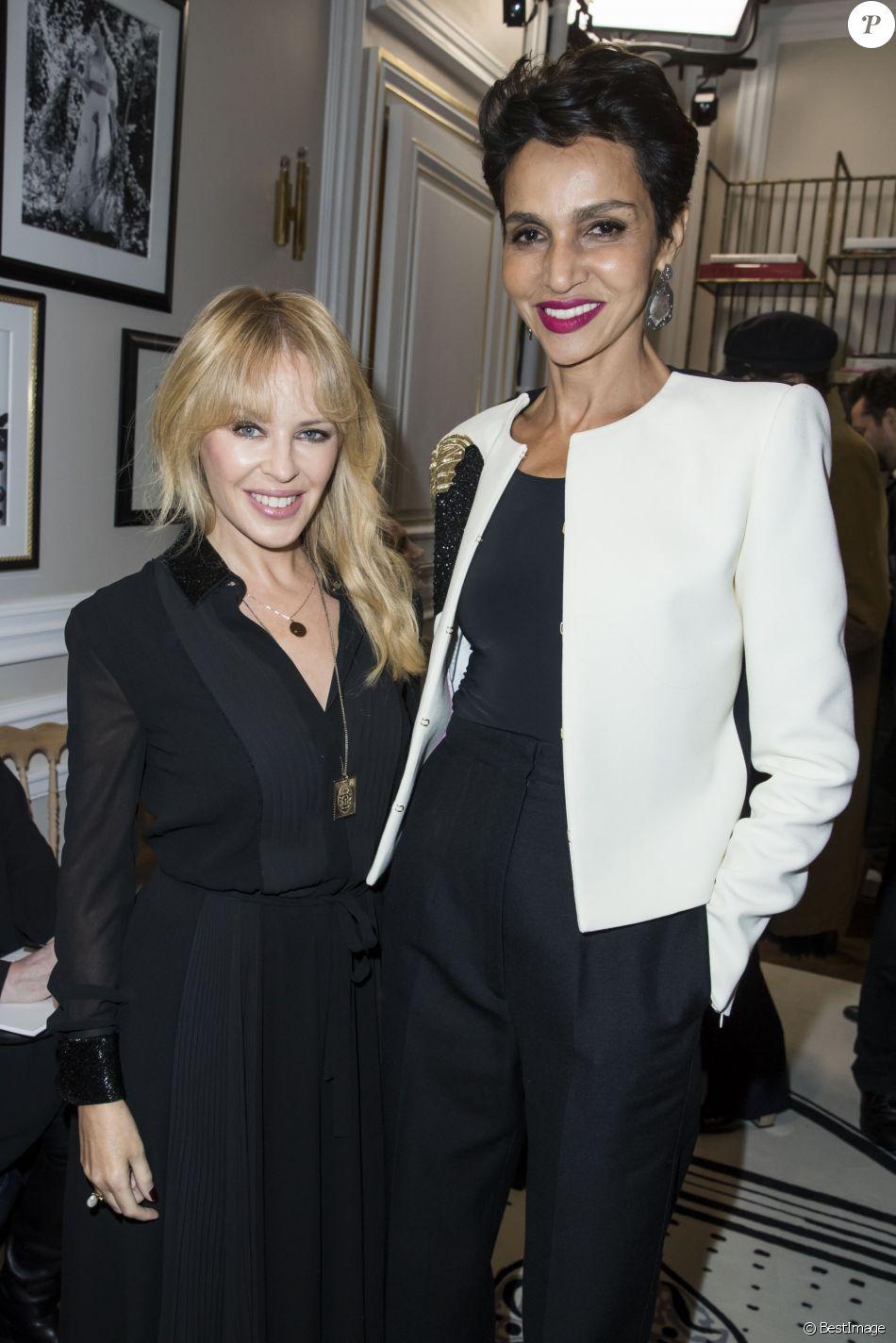 Kylie Minogue et Farida Khelfa - Défilé de mode Maison Schiaparelli, collection haute couture Printemps-Eté 2018, à Paris. Le 22 janvier 2018 © Olivier Borde / Bestimage