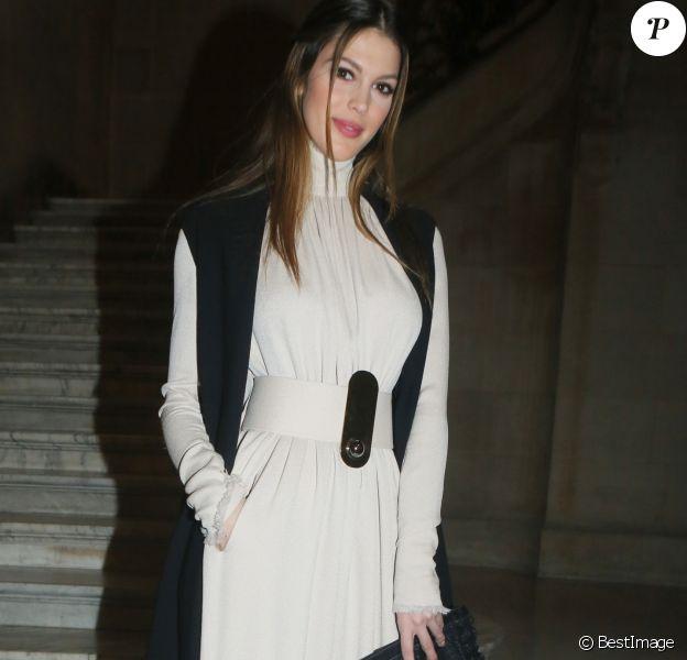 """Iris Mittenaere - People au défilé de mode """"Stéphane Rolland"""", collection Haute-Couture printemps-été 2018, à Paris. Le 23 janvier 2018 © CVS - Veeren / Bestimag"""