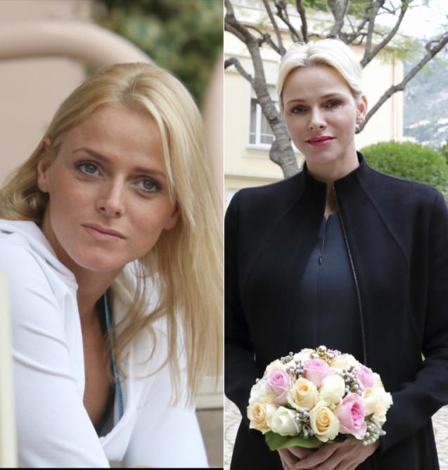 La princesse Charlene de Monaco (Charlene Wittstock) en juin 2007 / décembre 2017. Le 25 janvier 2018, l'épouse du prince Albert II de Monaco fêtait son 40e anniversaire.